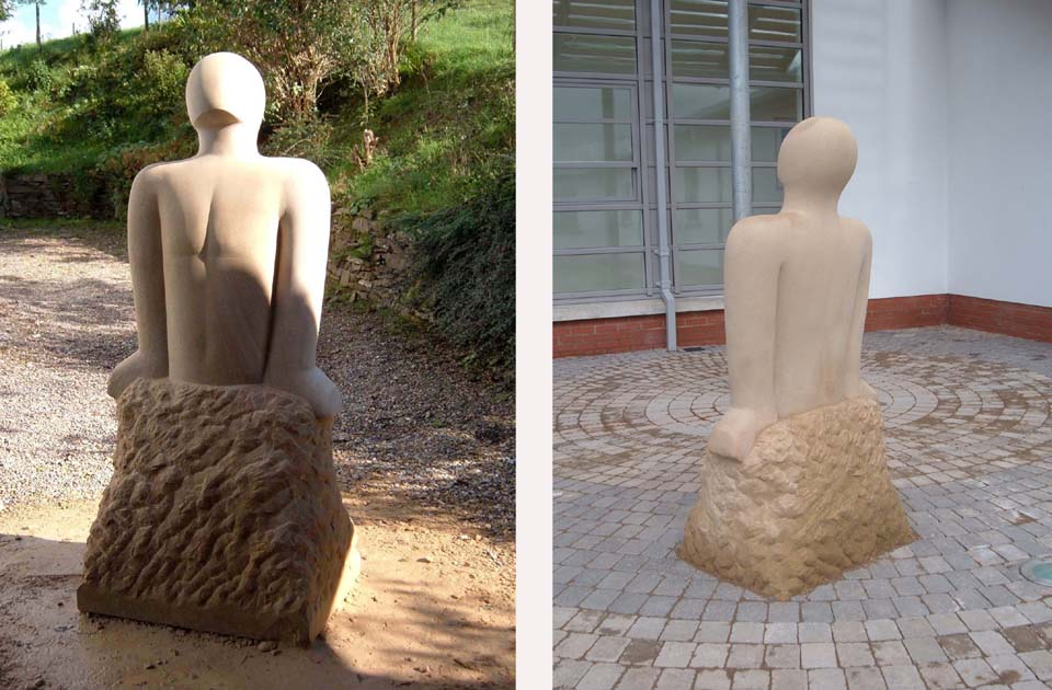 Sandstone sculpture two views