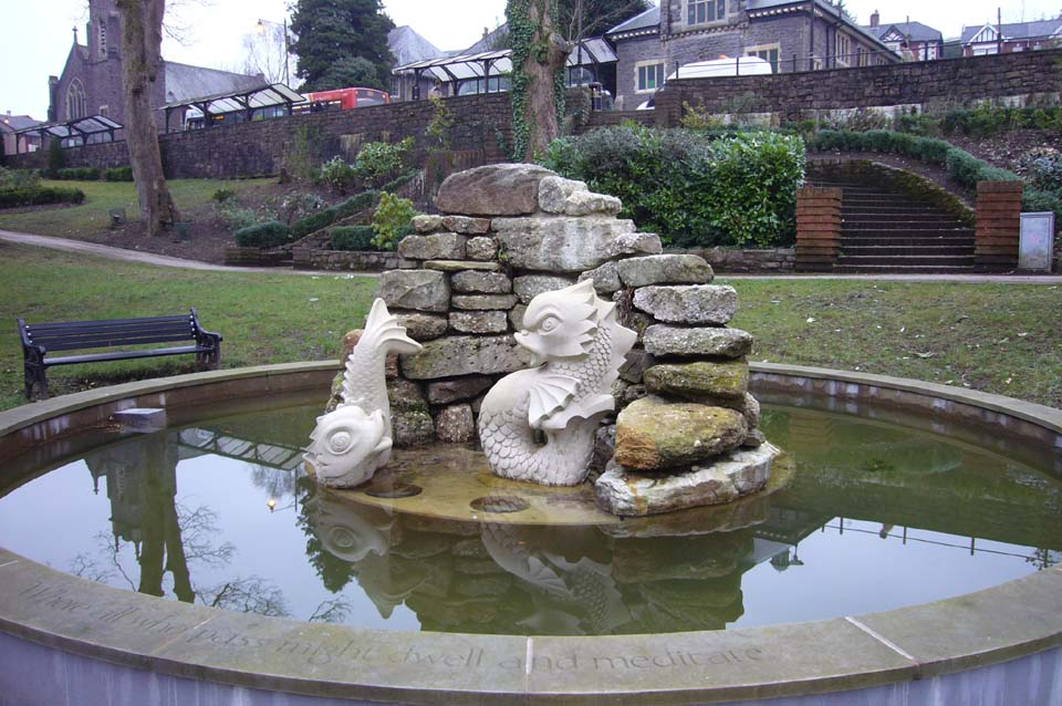 Pontypool Park Fountain limestone sculptures